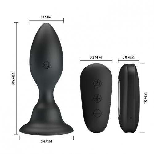 Анальная пробка Pretty Love Push Vibro Butt plug