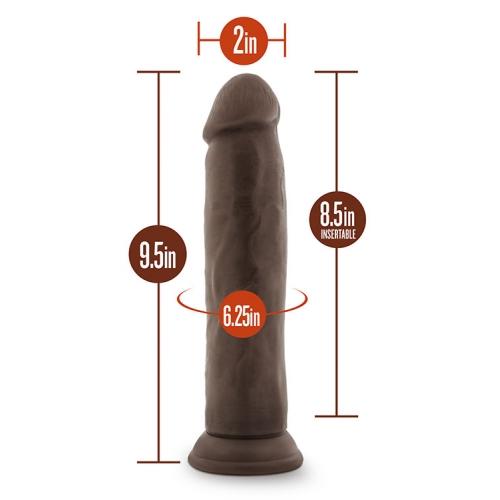 Фаллоимитатор DILDO DR. SKIN 9.5INCH COCK CHOCOLATE